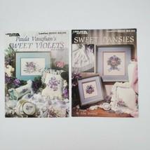 Lot Of 2 Leisure Arts Sweet Violets Paula Vaughan Sweet Pansies Diane Br... - $9.90
