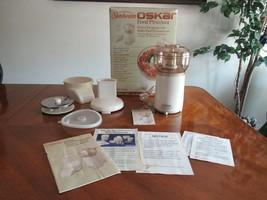 NOS Vintage Sunbeam Oskar Food Processor 14081 White Open Box NEW 1984 F... - $99.99