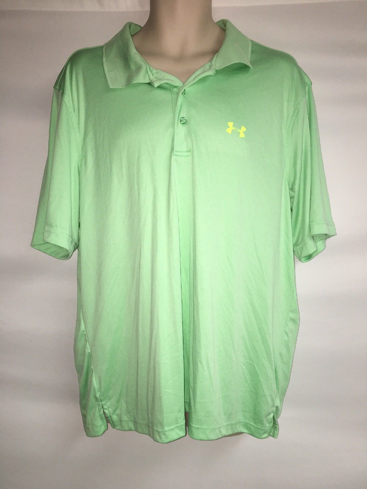 Primary image for Under Armour Polo Shirt Mens Large Mint Loose Fit Heat Gear