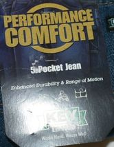 Key Performance Comfort Enhanced Durability Five Pocket Jean 40x30 image 4