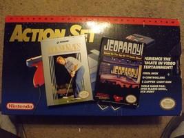 Nintendo Entertainment System NES Action Set Gray Console, 2 controlers,... - $129.00