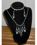 Custom Made! Necklace and Earrings, Jade & Silver, Elegant Wear, Silver ... - $57.95