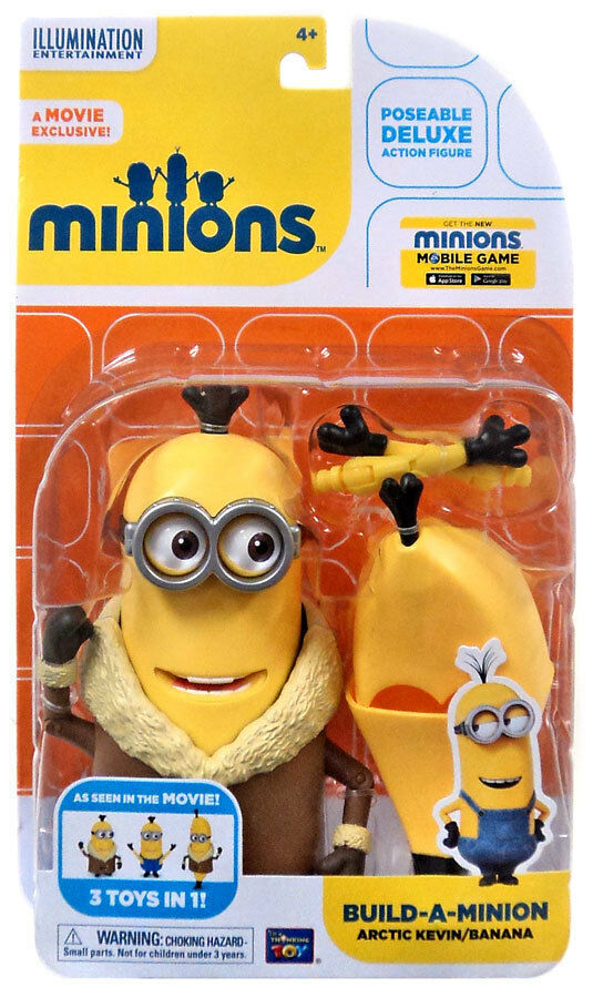 Primary image for Disney Despicable Me Deluxe Minion Build a Minion Artctic Kevin 4""