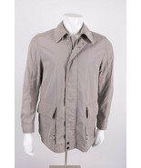 Boggi Milano Mens Travel Wear Jacket Coat Medium Large Tan Khaki Waterproof - $178.19