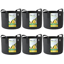 WINNER OUTFITTERS 6-Pack 5 Gallon Grow Bags/Aeration Fabric Pots with Ha... - $18.64