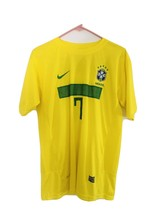 Nike ROBINHO #7 Mens Brazil CBF Dri-Fit World Cup Yellow Soccer Jersey B... - $41.80