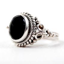 925 Sterling Silver Black Onyx Wedding Ring Sz 4-12 Women Jewelry RSV-1038 - $23.64
