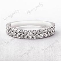 Diamond eternity Ring 14k White Gold Fn Wedding Ring is Simply Designed ... - $24.12