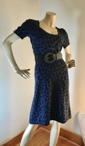 Betsey Johnson Purple Leopard Print Maxi Dress Plunge Neckline Retail $149 - $418,41 MXN