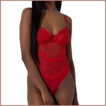 Erotic Sexy Lace Lingerie Bodysuit Chartreuse White Black Or Red In Plus Sizes image 5