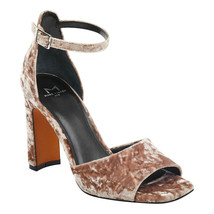 Marc Fisher Harlin 3 Light Pink Fabric Ankle Strap Sandals, Size 8 M - $39.59