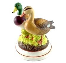 Prohibition Flask Mallard Ducks Barware Figurine w Cork Stopper Vintage ... - $30.39