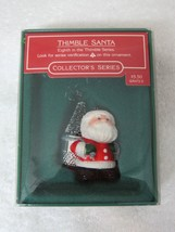 Hallmark Thimble Santa 1985 #8 Series Original Box with Price Tag Great Shape - $18.32