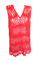 nip Crochet Net Swimsuit Coverup Top pink M - $15.00