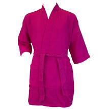 Terrytown Thigh Length Waffle Weave Kimono Robe Hot Pink - $49.00