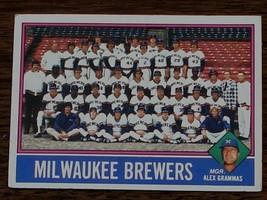 Milwaukee Brewers, Team Card,  1976  #606 Topps Baseball Card, GOOD COND... - $0.99