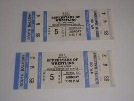WWF WORLD FEDERATION SUPERSTARS OF WRESTLING 2 UNUSED TICKETS MARCH 5, 1... - $12.37