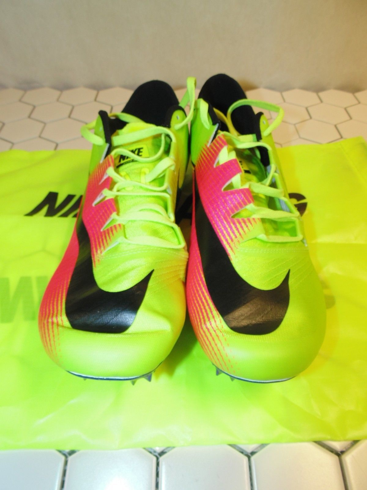 the latest cefa2 5fabe Nike Mens Zoom JA FLY 3 OC Rio Track  Field Spikes Volt 882032-999