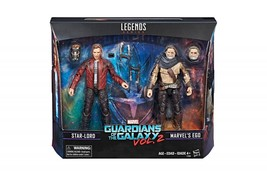 Marvel Legends Series Guardians of the Galaxy Star Lord Marvel's Ego 2 Pack - $42.57