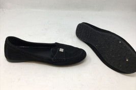 Coach New York Fredrica Womens Slip On Leather Loafers Metal Logo Shoes Size 8B - $23.36
