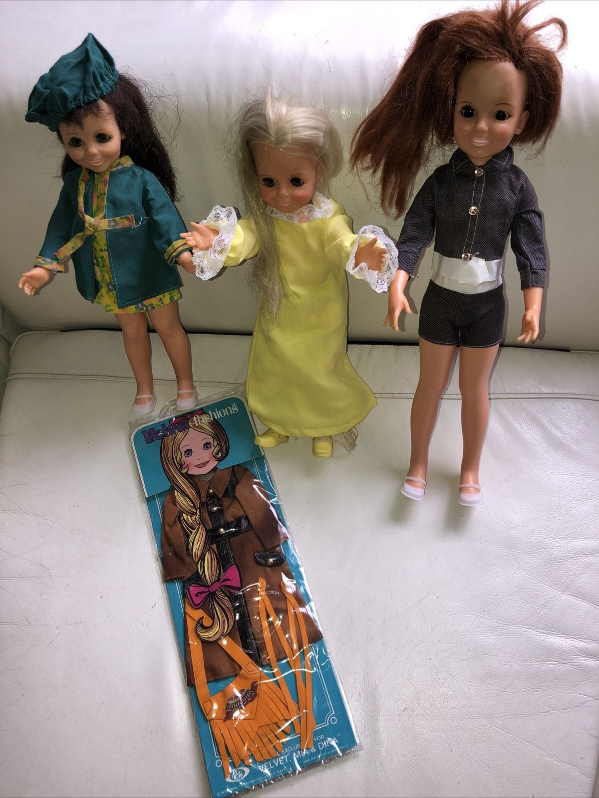 Primary image for Vintage 1970's Ideal Velvet & Crissy, Mia  dolls MOC Clothes