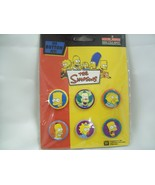 The Simpsons  - Six Button Set - New in Plastic - Pin - Badge - $6.99