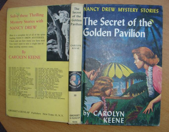 Primary image for Nancy Drew 36 The Secret of the Golden Pavilion matte PC blue EP 1966A-15