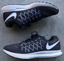 Nike Air Zoom Pegasus 32 Men's Running Shoes Black/White/Pure Platinum U... - $31.68