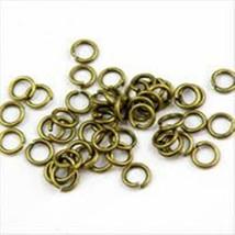 200pc 4mm antique bronze jump ring-5860 - $1.50