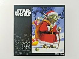 Disney Star Wars Puzzle Santa Yoda 300 pcs by Buffalo Games - $20.65