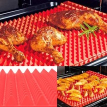 2017 Nonstick silicone bakeware Mats Pads Red Cooking Mat Pyramid Oven B... - ₨1,212.79 INR