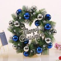 New 36cm Christmas Wreath Ball Pine Needles Wreath Decoration Home Door ... - $67.46