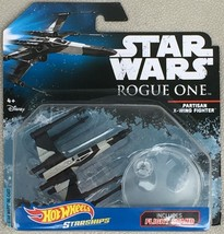 PARTISAN X-WING FIGHTER ROGUE ONE STARSHIPS STAR WARS HOT WHEELS HW DIEC... - $9.95