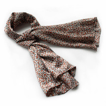 Tangerine Graceful Fashion Natural Leopard Pattern Scarf(Small) - $14.99