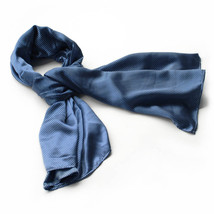 Dark Blue Small Cute Dot Design Campus Style Silk Scarf(Large) - $16.99