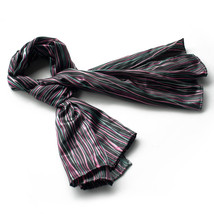 Black Irregular Stripe Exquisitely Soft Luxuriant Scarf(Small) - $14.99