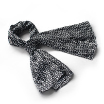 Black Square Chain Design Fashion Luxuriant Silky Scarf(Small) - $14.99