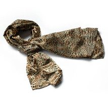 Wild Leopard Color Funky Exquisitely Soft Silky Scarf(Small) - $14.99