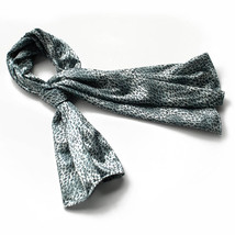 Light Blue Leopard Stylish Delicately Soft Silky Scarf(Large) - $16.99