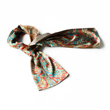 Coffee Paisley & Multi-Pattern Fashion Soft Scarf(Small) - $14.99