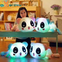 BOOKFONG 35cm Colorful Led Pillow Glowing Panda Plush Doll Luminous Toys... - $18.90+
