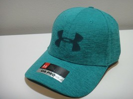 Under Armour Mens Threadborne Pro Fit Hat Color Bluish Green Size LG/XL - $28.01