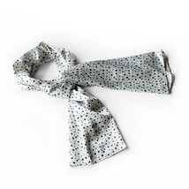 White Background Little Black Dots Scarf(Small) - $14.99
