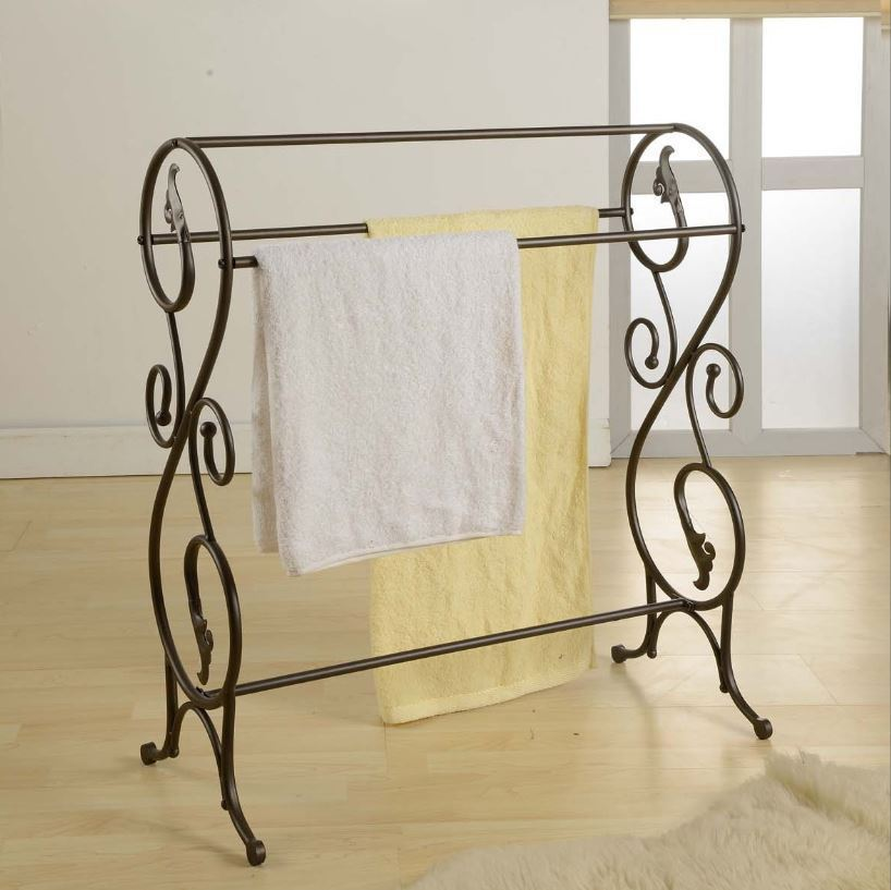 Free Standing Towel Rack For Bathroom Floor Stand Alone ...