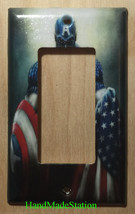Captain America US Flag Light Switch Outlet Wall Cover Plate Home decor image 3