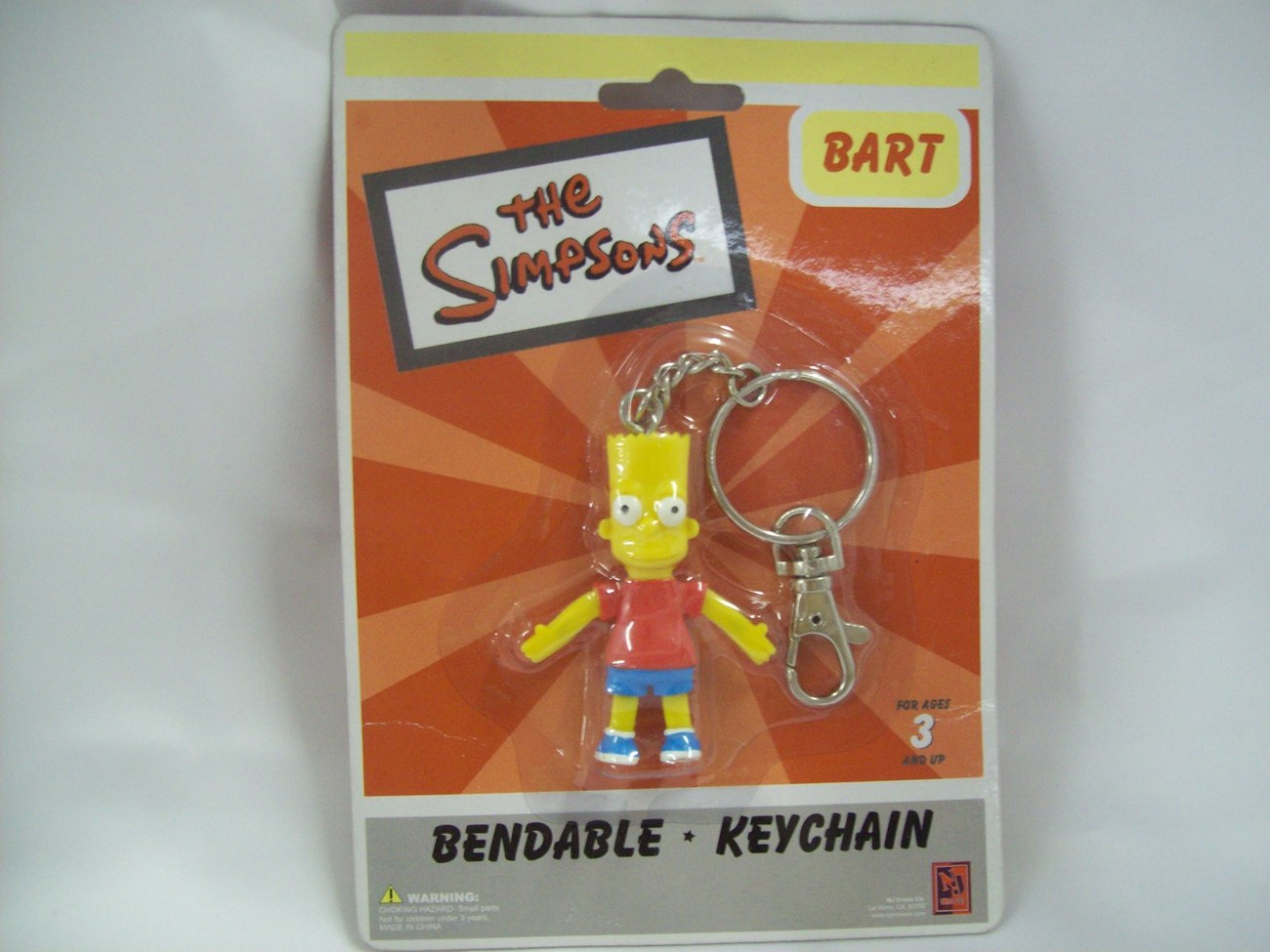 Bart Simpson Bendable Figure Keychain - New in Package