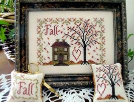 Fall cross stitch chart From The Heart  - $7.20