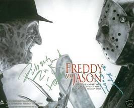 FREDDY KRUGER VS JASON CAST SIGNED AUTOGRAPHED RP PHOTO - $14.99