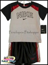 NWT BOYS NIKE GRAY AND BLACK TOP SHORTS SET SIZE 2T  $34.00 FREE SHIPPING! - $22.86