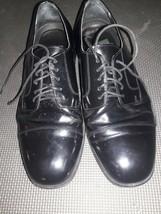 NUNN BUSH Dress Flex Mens Size 9.5 M Black Oxford Shoes Leather Formal - $25.72